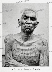 a tattooed haida of masset, george a. dorsey, 1898