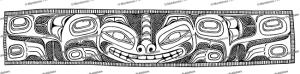 Haida bracelet design representing a Bear, Franz Boas, 1927 | Photos and Images | Travel