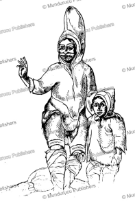 woodcut advertising the exhibition of an inuit woman and child from nova terra, 1566