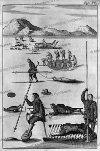 Inuit hunting seals with harpoons on Greenland, Hans Egede, 1741 | Photos and Images | Travel