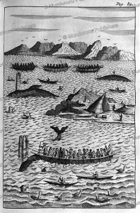 Inuit hunting whales, Greenland, Hans Egede, 1741 | Photos and Images | Travel