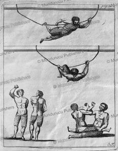Inuit men wrestle and swing from ropes, Greenland, Hans Egede, 1741 | Photos and Images | Travel