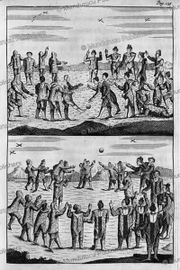 Inuit playing ball games on Greenland, Dutch version, Hans Egede, 1741 | Photos and Images | Travel