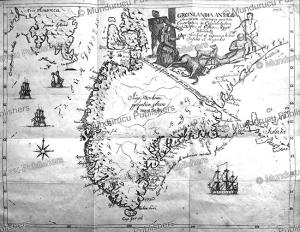 map of greenland, hans egede, 1741