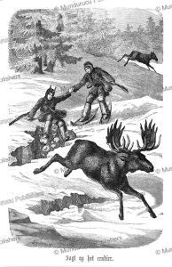 Eskimo hunting caribou, Hemann Wagner, 1862 | Photos and Images | Travel