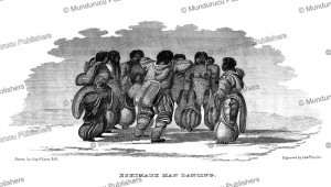 Eskimo men and women singing and dancing, G.F. Lyon, 1824 | Photos and Images | Travel