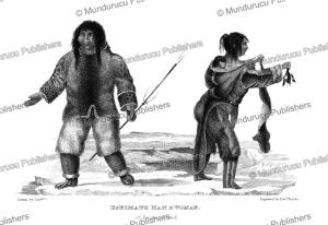 Eskimo man and woman of Savage Island, G.F. Lyon, 1824 | Photos and Images | Travel
