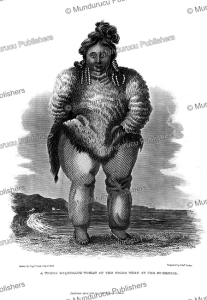 a young esquimaux woman of the tribe west of the mckenzie, alaska, george back, 1828