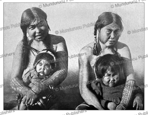 Eskimo women with tattooed arms, George Gordron, 1909 | Photos and Images | Travel