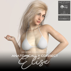 anatomically correct: elise for genesis 3 and genesis 8 female