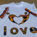 Round neck design with kente cloth.   Crafting   Sewing   Other