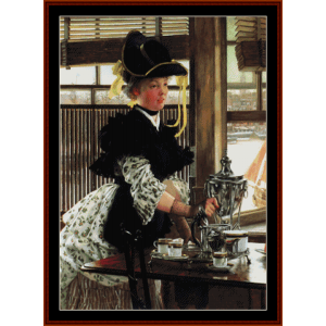 Tea-Time - Tissot cross stitch pattern by Cross Stitch Collectibles | Crafting | Cross-Stitch | Other