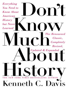 don't know much about history  kenneth c . davis