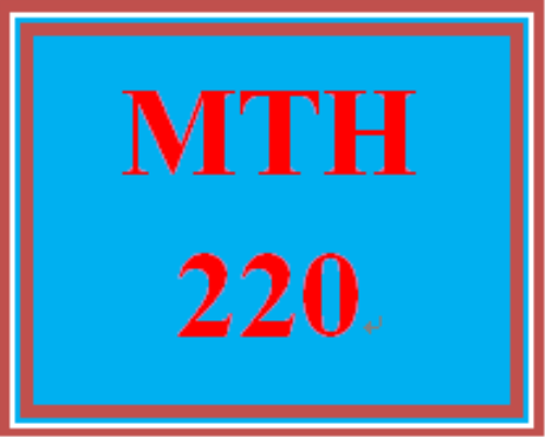 First Additional product image for - MTH 220 Week 1 Questions and Concerns