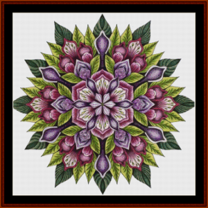 mandala 7 cross stitch pattern by cross stitch collectibles