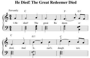 he died! the great redeemer died