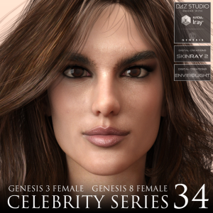 Celebrity Series 34 for Genesis 3 and Genesis 8 Female | Software | Design