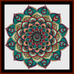 mandala 6 cross stitch pattern by cross stitch collectibles