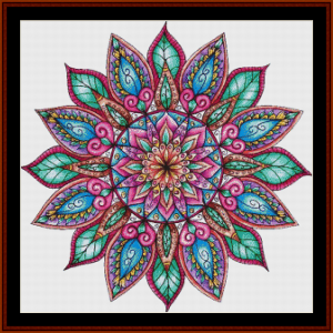 mandala 8 cross stitch pattern by cross stitch collectibles
