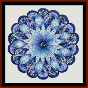 mandala 9 cross stitch pattern by cross stitch collectibles