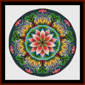mandala 11 cross stitch pattern by cross stitch collectibles