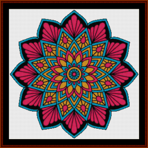Mandala 12 cross stitch pattern by Cross Stitch Collectibles | Crafting | Cross-Stitch | Other