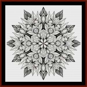 mandala 13 cross stitch pattern by cross stitch collectibles