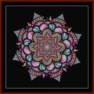 mandala 15 cross stitch pattern by cross stitch collectibles