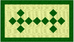 irish chain tablerunner