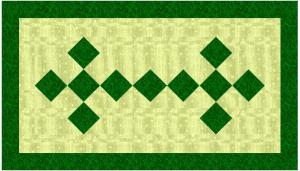 irish chain tablerunner