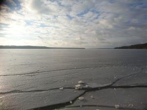 frozen lake water