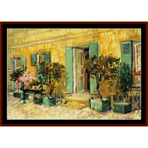 Restaurant in Asnieres - Van Gogh cross stitch pattern by Cross Stitch Collectibles | Crafting | Cross-Stitch | Other