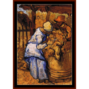 Sheep Shearers - Van Gogh cross stitch pattern by Cross Stitch Collectibles | Crafting | Cross-Stitch | Other