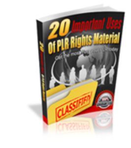 20 Important uses of PLR Rights Material | eBooks | Non-Fiction