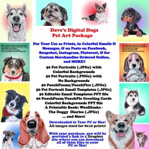 50 digital images of pet art
