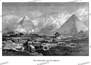 the pyramids and the sphinx, egypt, bernhard fiedler, 1878