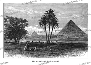 the second and third pyramid, egypt, ernst heyn, 1878