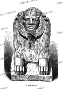 hyksos sphinx from tanis, third intermediate period, dynasty xxi-xxii, egypt, b. strassberger, 1878