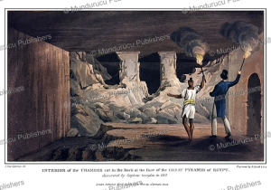 the interior of the great pyramid, egypt, g. fitz clarence, 1819