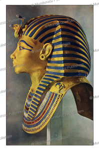 death mask of pharaoh tutankhamun, egypt, 1935
