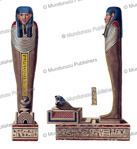 figure of a male mummy painted on his sarcophagus from a tomb at thebes, egypt, fre´de´ric cailliaud, 1821