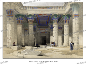 Grand portico of the Temple of Philæ, Nubia, David Roberts, 1846 | Photos and Images | Travel