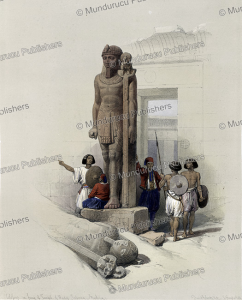 Colossus in front of the temple of Wady Saboua (Wadi al-Sabua), Nubia, David Roberts, 1846   Photos and Images   Travel