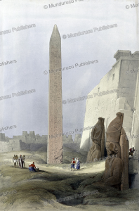 Obelisk at Luxor, David Roberts, 1838 | Photos and Images | Travel