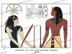Thotmes III and the goddess Sefekh, Egypt, Henry Villiers Stuart, 1879 | Photos and Images | Travel