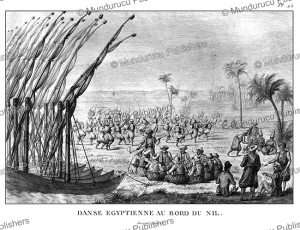 egyptians dancing on the side of the nile, egypt, olivier guillaume antoine, 1807