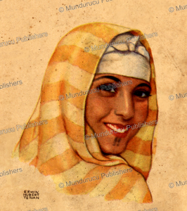 egyptian girl, erwin tetuan, 1950