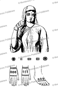 Tattoo patterns for Egyptian women, Edward William Lane, 1839 | Photos and Images | Travel
