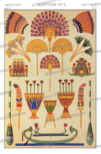 Ancient Egyptian feather and flower ornaments, Owen Jones, 1868 | Photos and Images | Travel