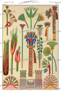 Ancient Egyptian flower ornaments, Owen Jones, 1868 | Photos and Images | Travel